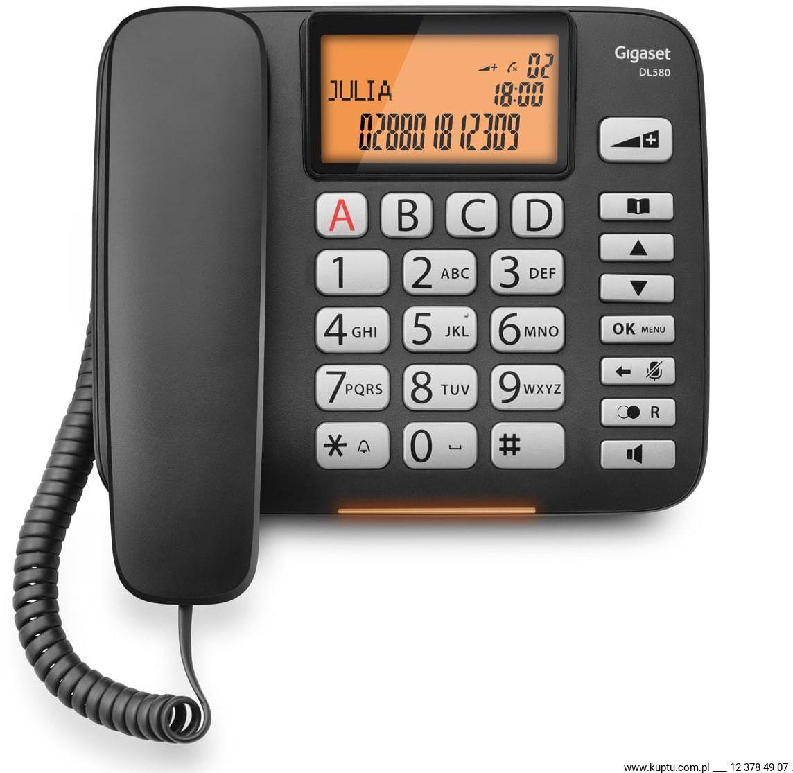 Gigaset DL580, telefon sznurowy