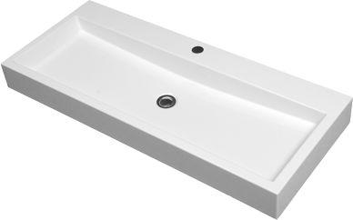 Omnires umywalka nablatowa 100x42cm biała Thasos1000