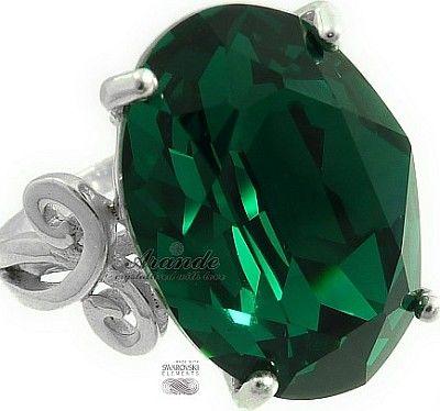 Swarovski Special Pierścionek Emerald Srebro