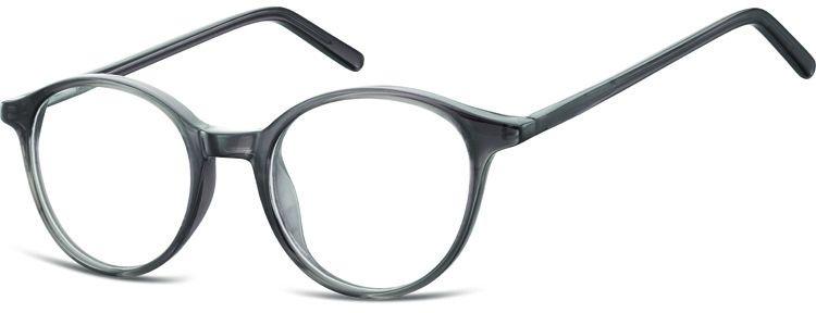Okulary oprawki zerówki korekcyjne lenonki Unisex Sunoptic AC23B ciemny szary