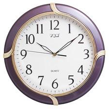 Zegar ścienny z perłową ramką fiolet