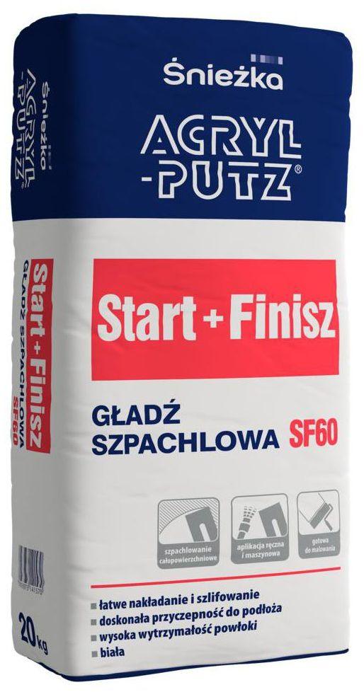 Gładź szpachlowa START+FINISH 20 kg ACRYL PUTZ
