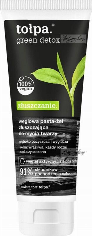 Tołpa - Green Detox - Węglowa pasta / żel złuszczająca do mycia twarzy - 125 ml