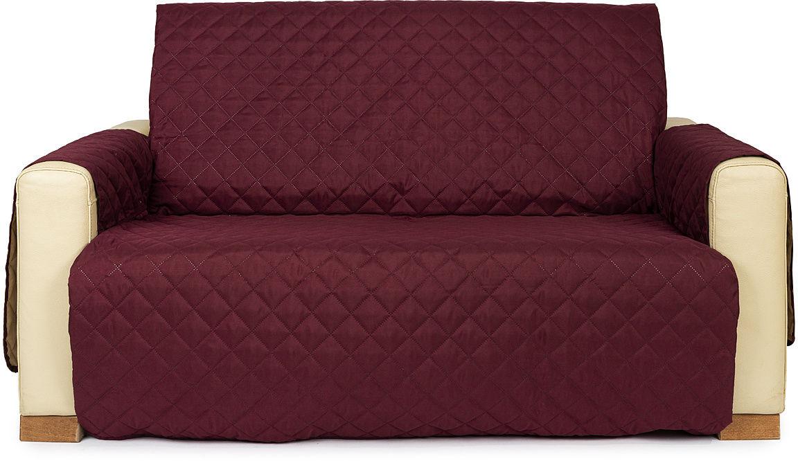 4Home Narzuta na kanapę 2-osobową Doubleface bordo/beżowa, 140 x 220 cm, 140 x 220 cm