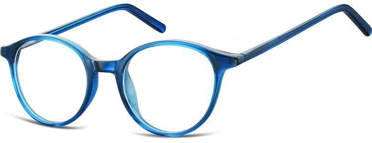 Okulary oprawki zerówki korekcyjne lenonki Unisex Sunoptic AC23D ciemny niebieski