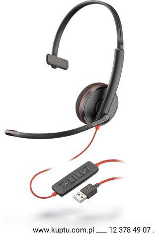 Blackwire 3210 przewodowy zestaw słuchawkowy USB A (209744-101)