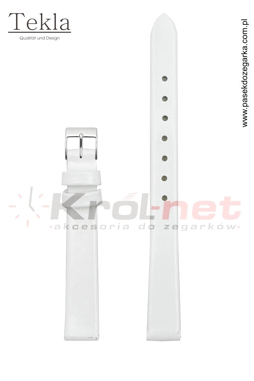 Pasek do zegarka TK126B/8 - gładki, biały