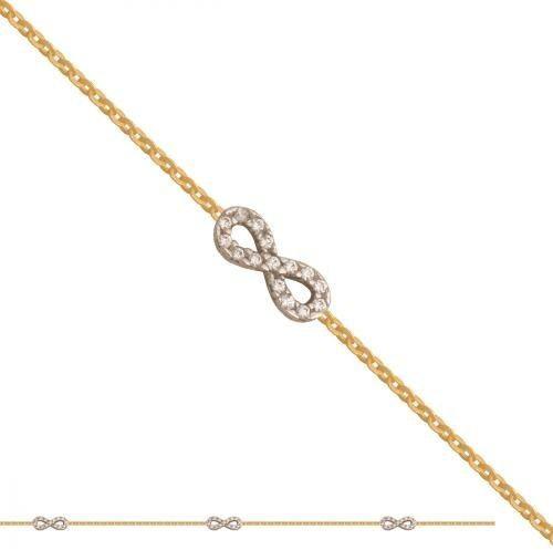 Złota bransoletka damska łańcuszkowa Br175