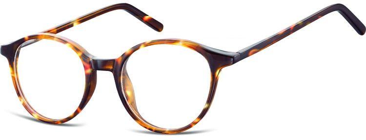 Okulary oprawki zerówki korekcyjne lenonki Unisex Sunoptic AC23E jasna panterka