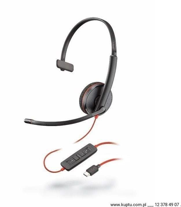 Blackwire 3210 przewodowy zestaw słuchawkowy USB C (209748-101)