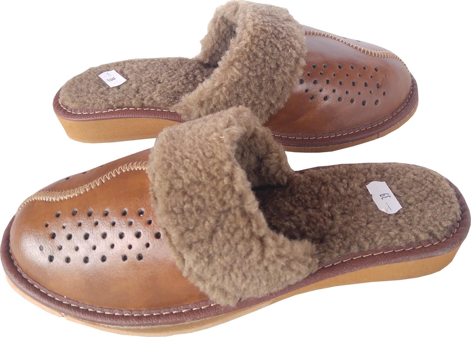 Damskie pantofle kapcie ciepłe