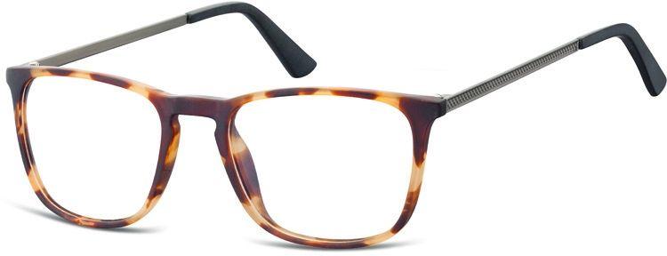 Okulary oprawki zerówki korekcyjne nerdy Unisex Sunoptic AC25A bursztynowe