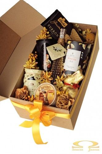 Pudełko Delikatesowe Złote Żonkile