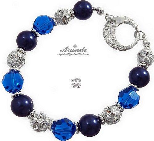 NOWE Swarovski Piękna Bransoletka CRYSTAL BLUE