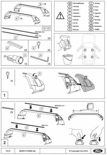 bagażnik dachowy Ford Mondeo Mk5 - belki poprzeczne -