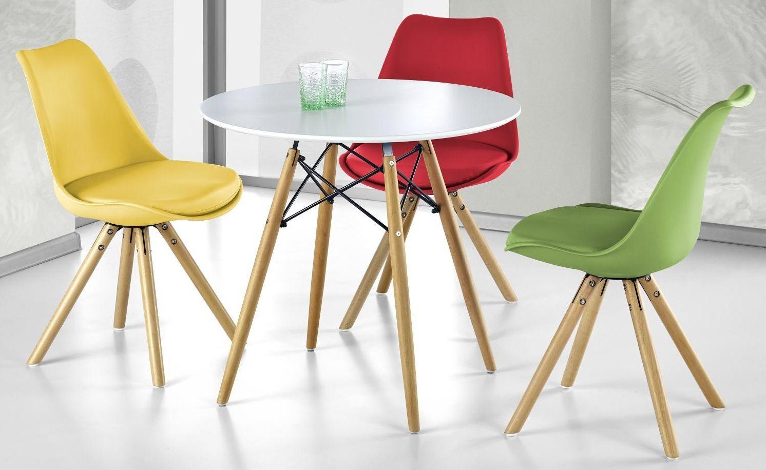 Zestaw: stół Prometheus okrągły i 4 krzesła K201 Halmar - 7 kolorów