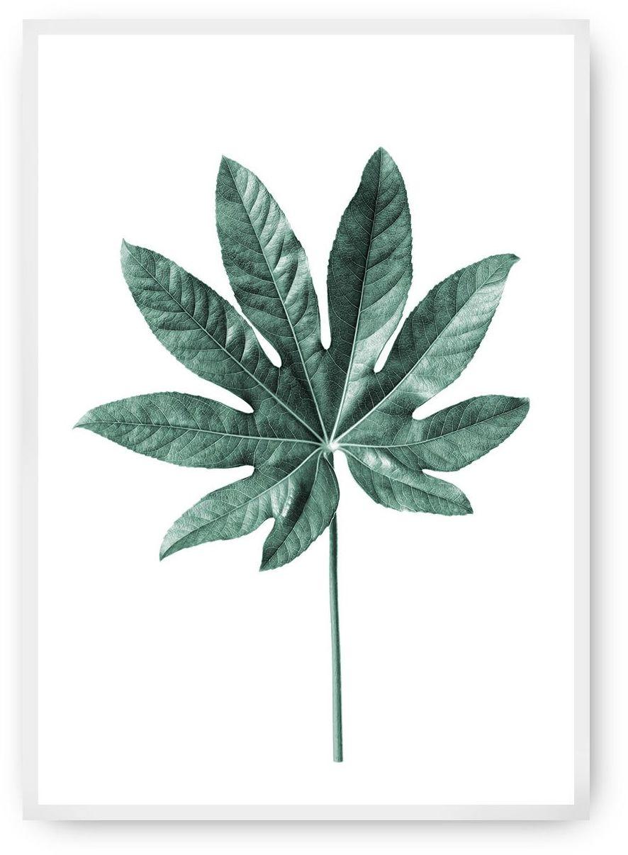 Plakat Leaf Emerald Green