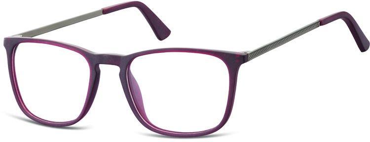 Okulary oprawki zerówki korekcyjne nerdy Unisex Sunoptic AC25D ciemnoczerwone