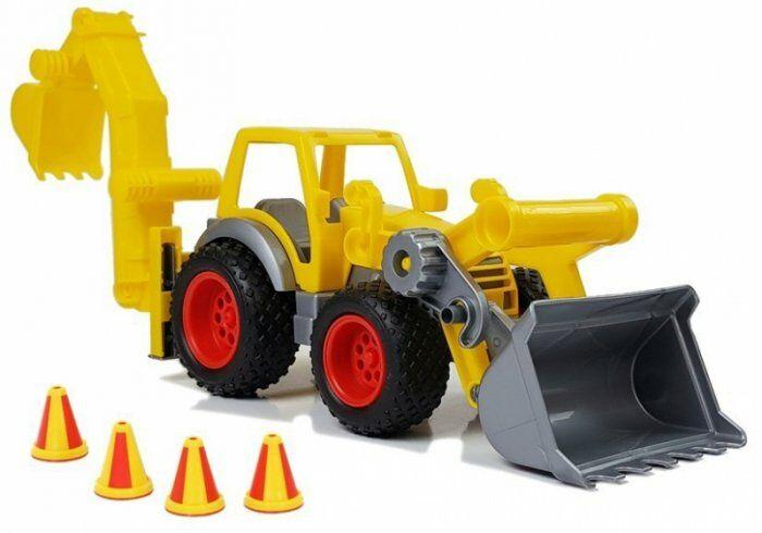 "Traktor Koparka Łyżka Gumowe Koła ""ConsTruck"" 0377"