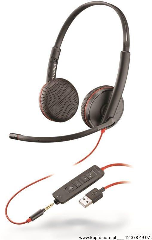 Blackwire 3225 przewodowy zestaw słuchawkowy USB A (209747-101)