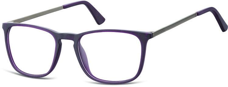 Okulary oprawki zerówki korekcyjne nerdy Unisex Sunoptic AC25E ciemnofioletowe