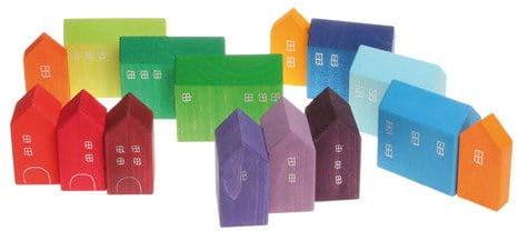 Domki ręcznie malowane tęczowe Grimm''s