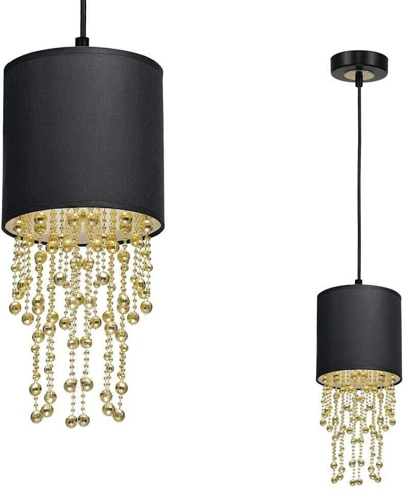 Lampa wisząca ALMERIA BLACK/GOLD 1xE27