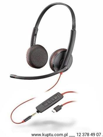 Blackwire 3225 przewodowy zestaw słuchawkowy USB C (209751-101)