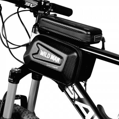 """Uchwyt rowerowy, potrójna sakwa na ramę Wildman Hardpouch """"XL"""", czarny"""