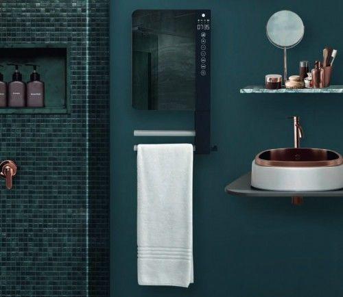 Suszarka łazienkowa 1800W z Lustrem, Cyfrowy wyświetlacz, Nowoczesny design