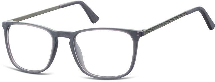 Okulary oprawki zerówki korekcyjne nerdy Unisex Sunoptic AC25F ciemnoszare