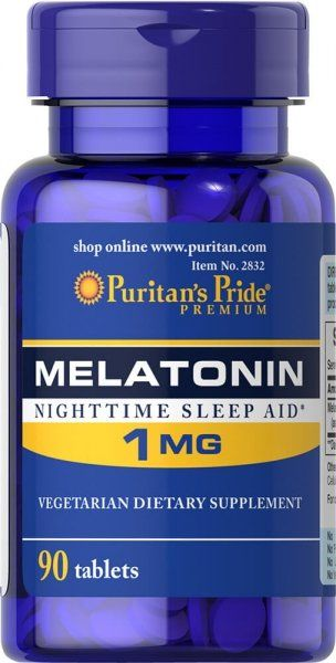 Melatonina 1 mg, Puritan''s Pride, 90 tabletek