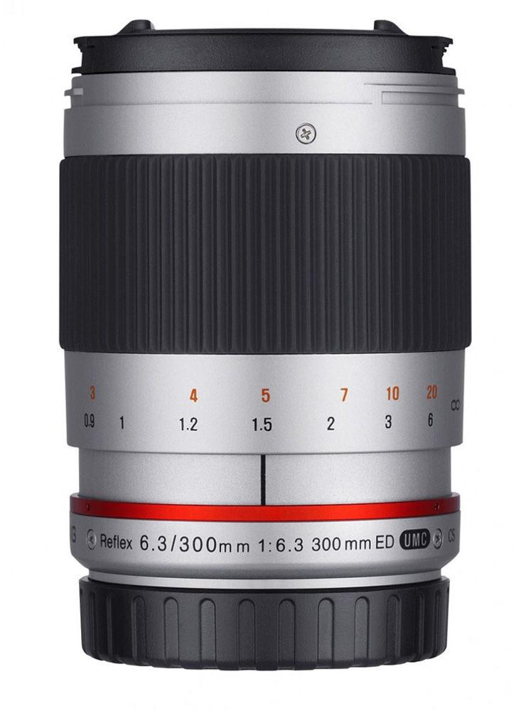 Obiektyw Samyang 300mm F6.3 mirror Canon M srebrny