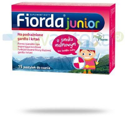 Fiorda Junior o smaku malinowym 15 pastylek