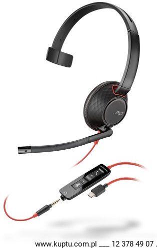 Blackwire 5210 przewodowy zestaw słuchawkowy USB C ( 207587-01)