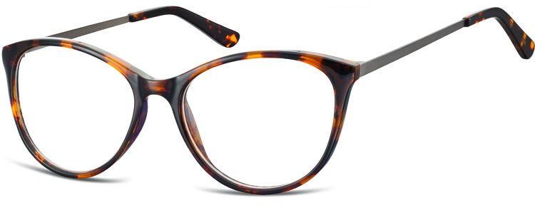 Okulary oprawki zerówki korekcyjne Kocie Unisex Sunoptic AC27 panterka