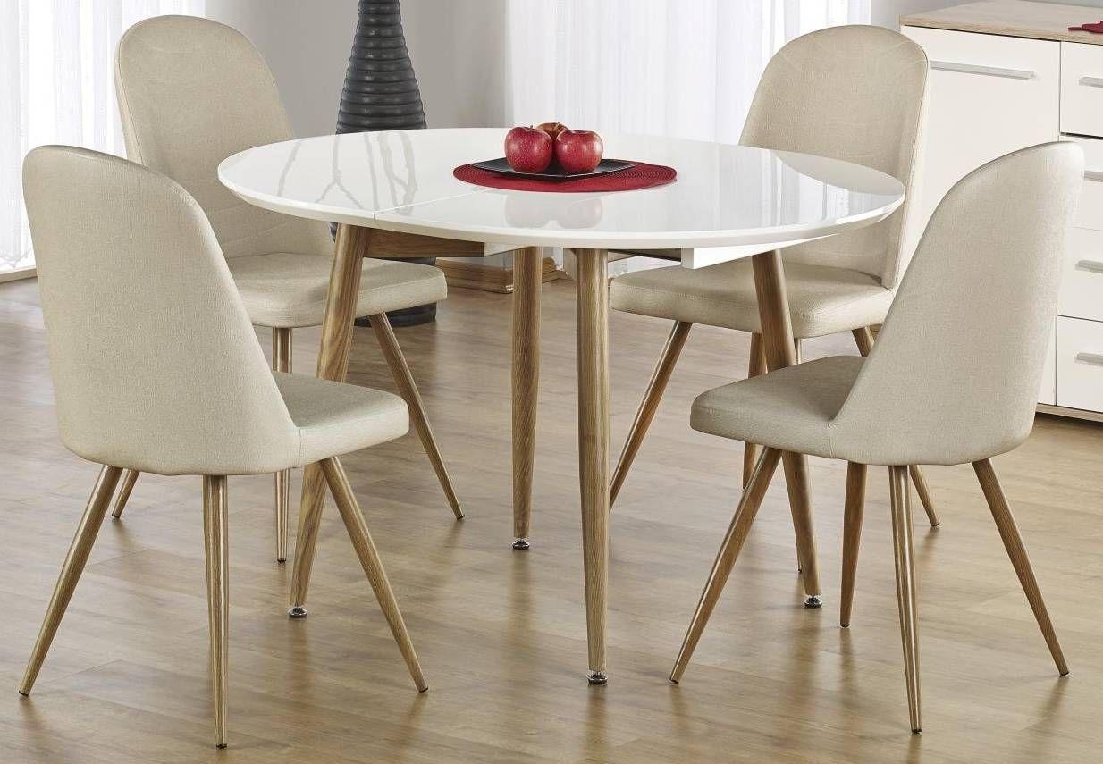 Zestaw: stół rozkładany Edward i 4 krzesła K214 Halmar - 3 kolory