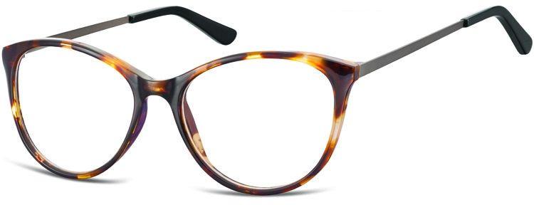 Okulary oprawki zerówki korekcyjne Kocie Unisex Sunoptic AC27A bursztynowe
