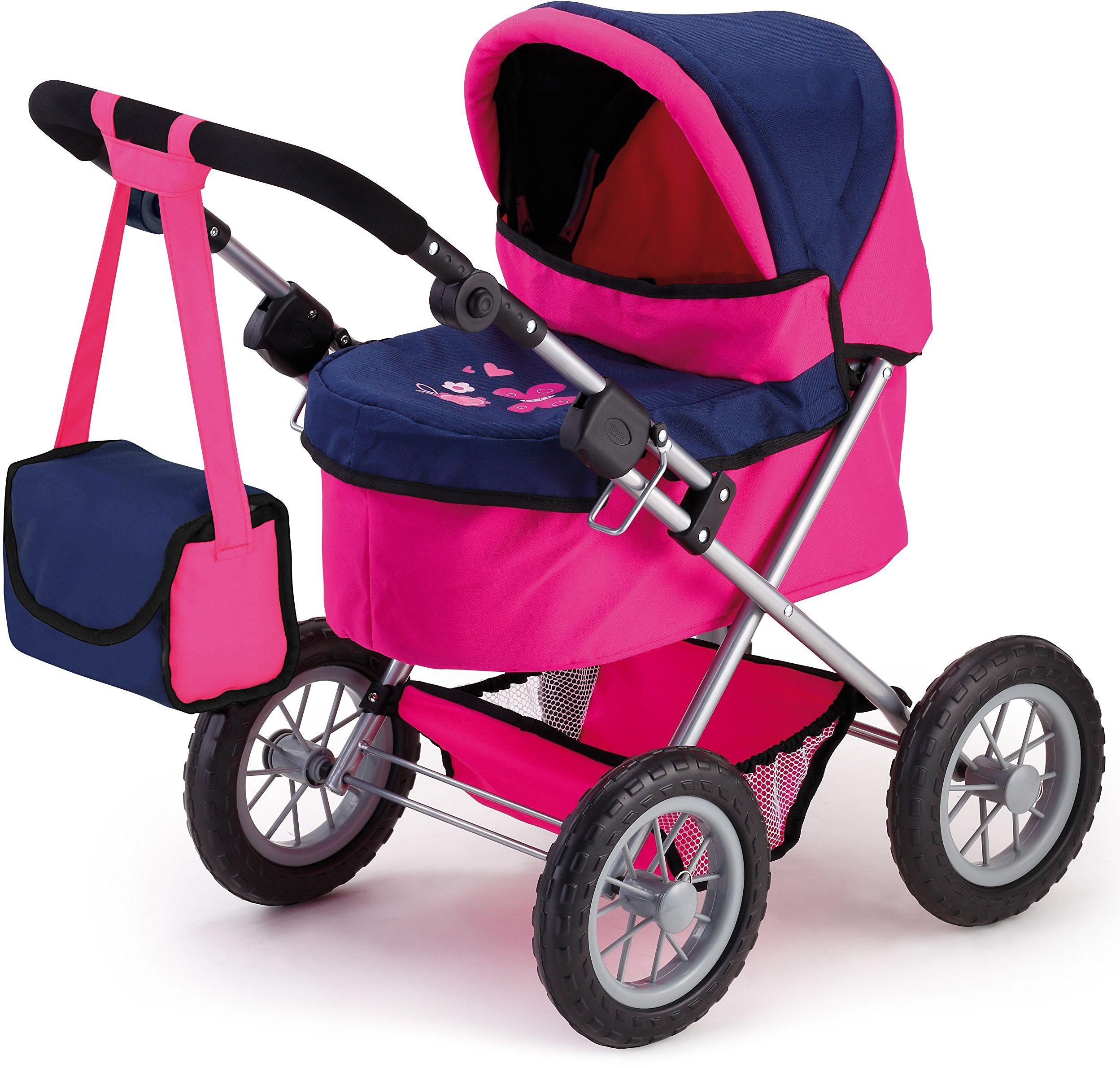 Bayer Design 13013 - wózek dla lalek Trendy, różowy/niebieski