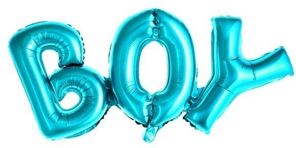 Balon foliowy BOY niebieski 67x29cm 1szt FB8M-001