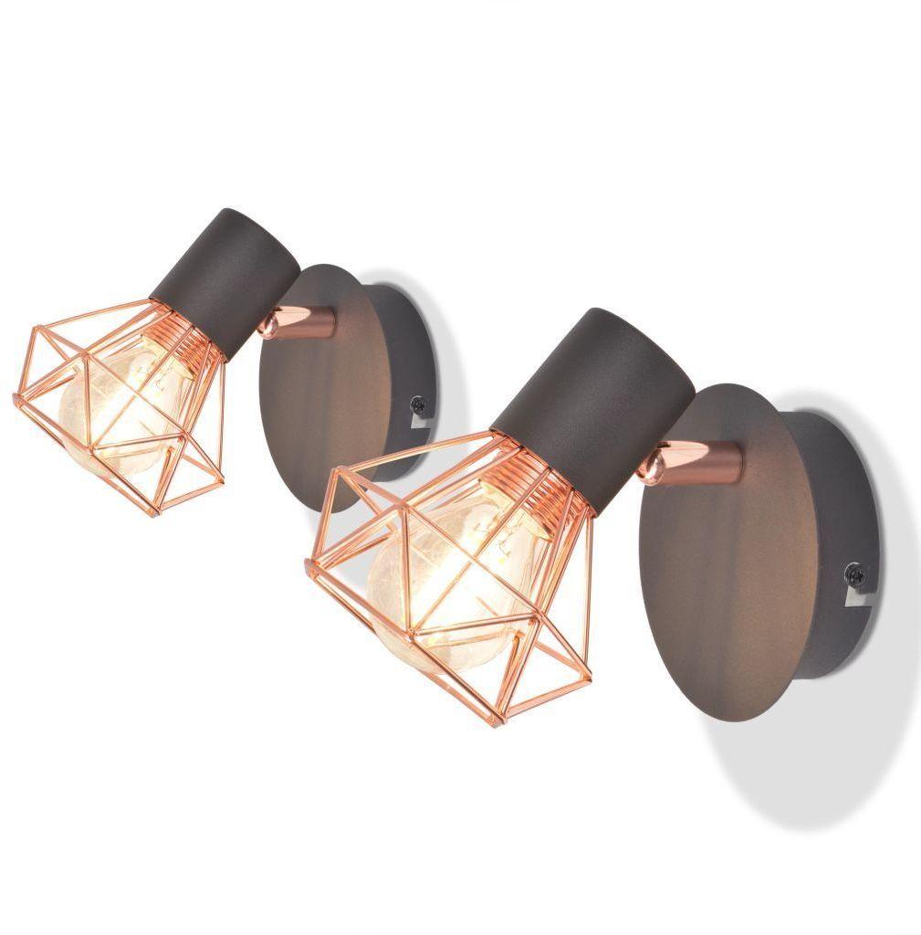 Miedziane kinkiety LED 2 sztuki loft - EX32-Werta