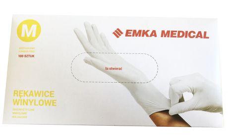 Rękawice winylowe bezpudrowe EMKA MEDICAL