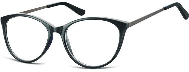 Okulary oprawki zerówki korekcyjne Kocie Unisex Sunoptic AC27B czarne