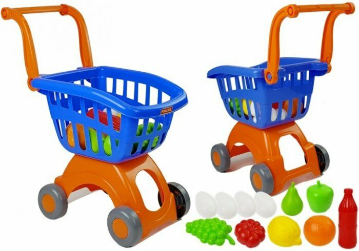 Wózek Sklepowy Marketowy Owoce Jajka Zestaw zakupowy Nr14 71385