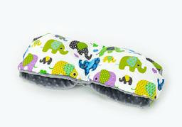 MAMO-TATO Mufka do wózka minky Słoniaki zielone / szary