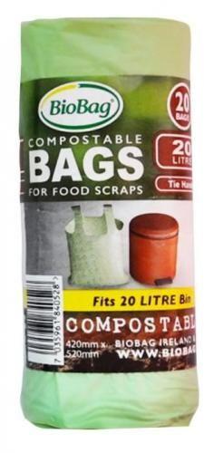 Worki na odpady BIO i zmieszane 20 L 20 szt (kompostowalne i biodegradowalne) BioBag