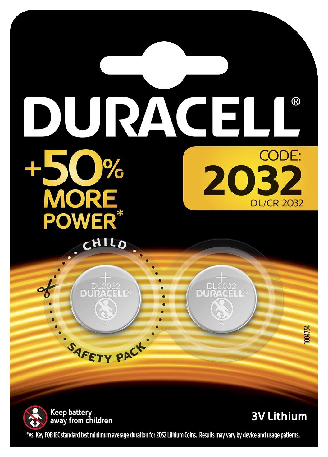 BATERIA DURACELL Bateria DURACELL 2032 (2 sztuki) + Zamów z DOSTAWĄ JUTRO! + ODBIERZ ZA GODZINĘ W ELEKTROMARKECIE!