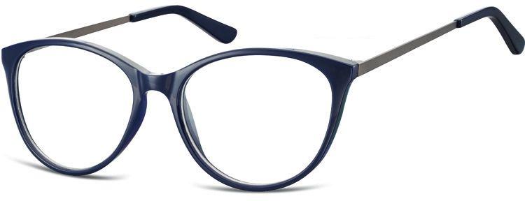 Okulary oprawki zerówki korekcyjne Kocie Unisex Sunoptic AC27C ciemnogranatowe