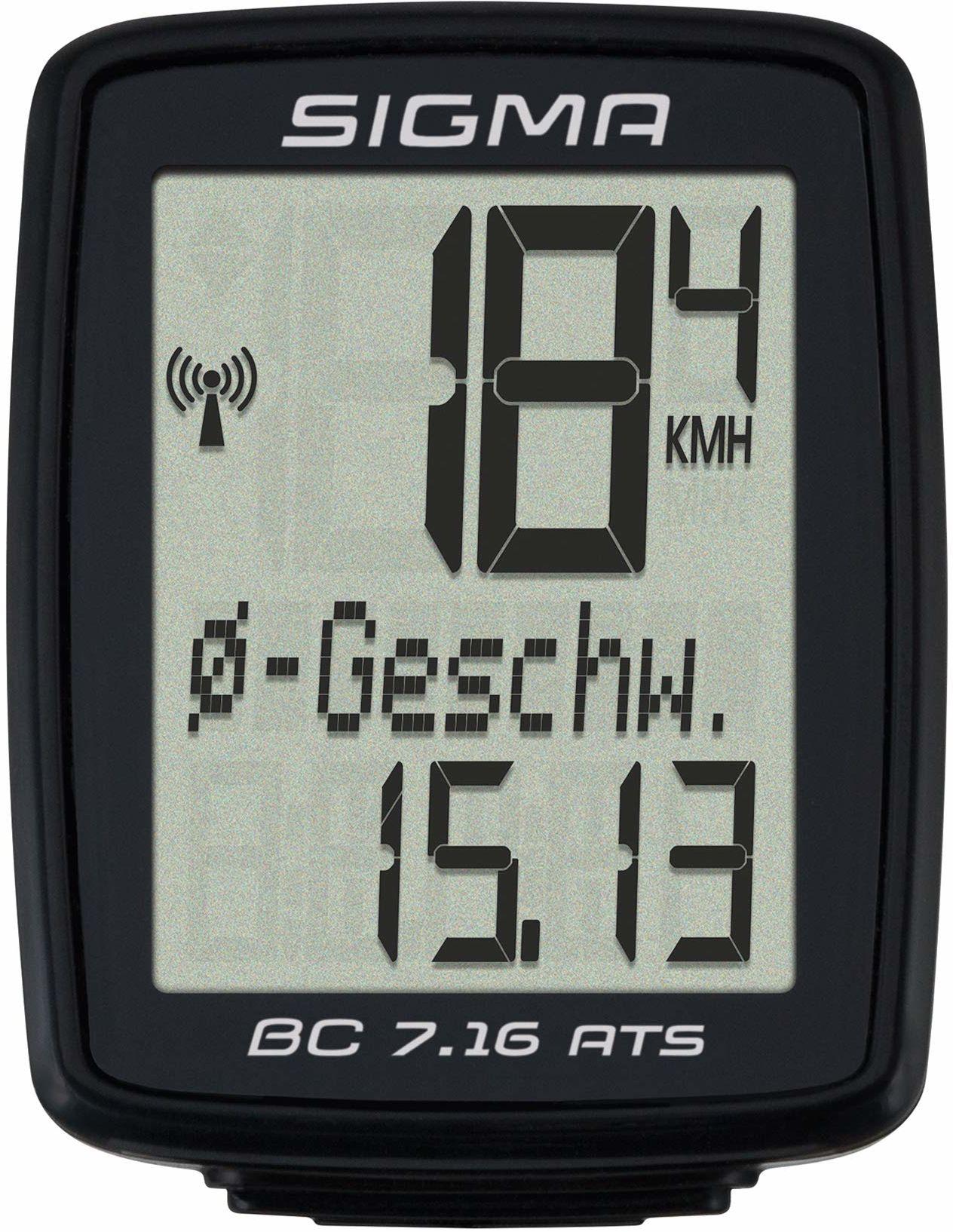 Sigma Sport BC 7.16 Rowerowy Miernik Prędkości, Czarny, Rozmiar Uniwersalny, 07162