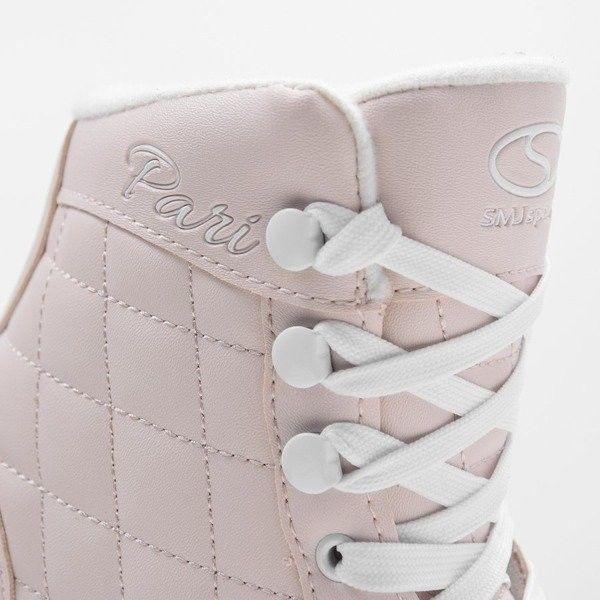 Łyżwy figurowe SMJ Pari pudrowy róż Rozmiar buta: 38